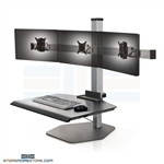 Sit-Stand Monitor and Keyboard Platform Adjustable Height