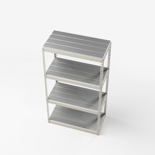 Boltless Shelving with Metal Deck