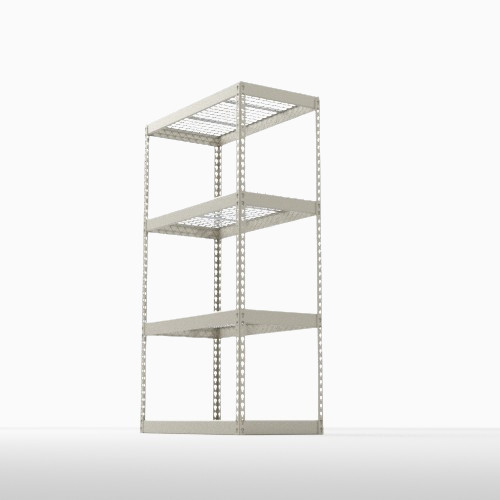 Boltless Shelving with Wire Deck