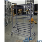 "Rolling Cart with Three Slanted Shelves  44"" Wide x 24"" Deep x 68"" High, SMS-92-Cart-Clearance"