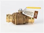 1-1/4 IN. LF-Brass Ball Valve - Press x Press