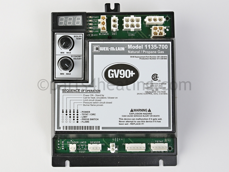 Weil McLain 1135700 Control Module for GV 90 pluss Series 2 heater ...