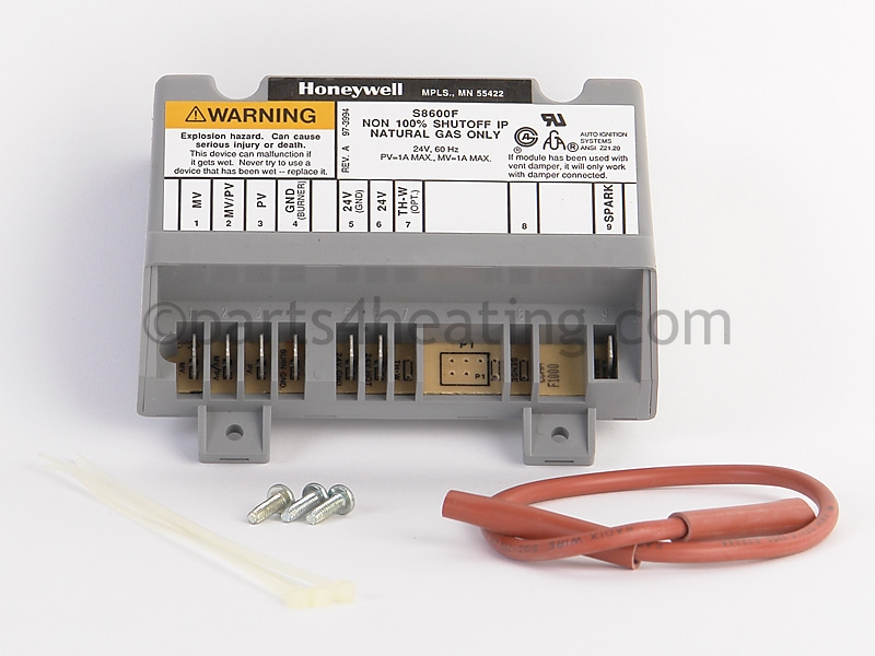 Crown Boiler Aruba 3 AWI Honeywell S8600F 355000 Ignition Control Module  Natural Gas