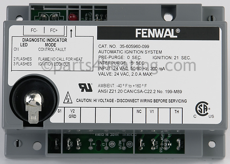 35 605960 099 2?1435641069 parts4heating com fenwal 35 605960 099 ignition control board fenwal wiring diagram at bayanpartner.co