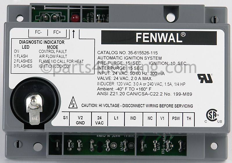 Parts4heating Fenwal 35615526115 Ignition Control Boardrhparts4heating: Fenwal Ignition System Wiring Diagram At Gmaili.net