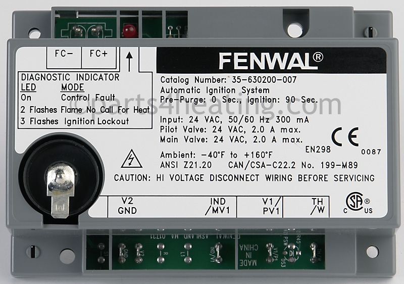 fenwal 35 630200 007 ignition control board
