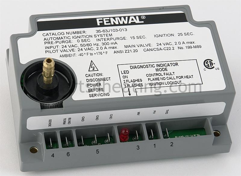 fenwal ignition module wiring diagram fenwal 35 63j103 013 ignition control board parts4heating com  fenwal 35 63j103 013 ignition control