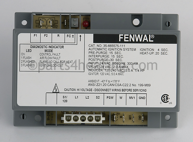 parts4heating com fenwal 35 665575 111 ignition control module rh parts4heating com Engine Test Stand Wiring-Diagram Solar Battery Bank Wiring Diagram