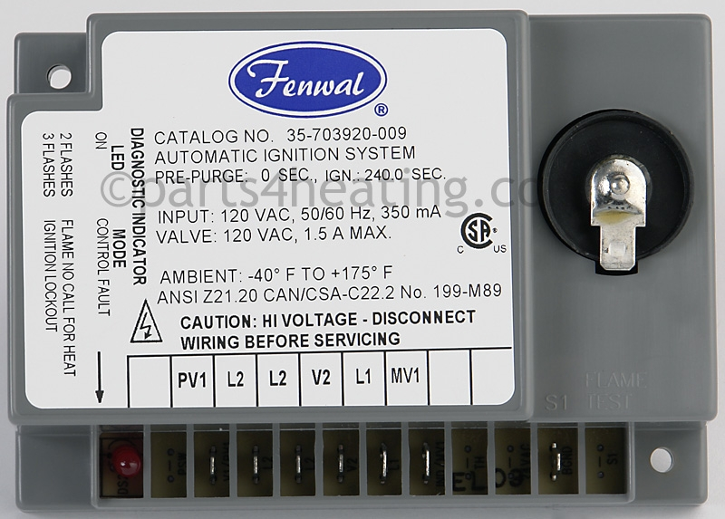 Parts4heating Fenwal 35703920009 Ignition Control Boardrhparts4heating: Fenwal Ignition System Wiring Diagram At Gmaili.net