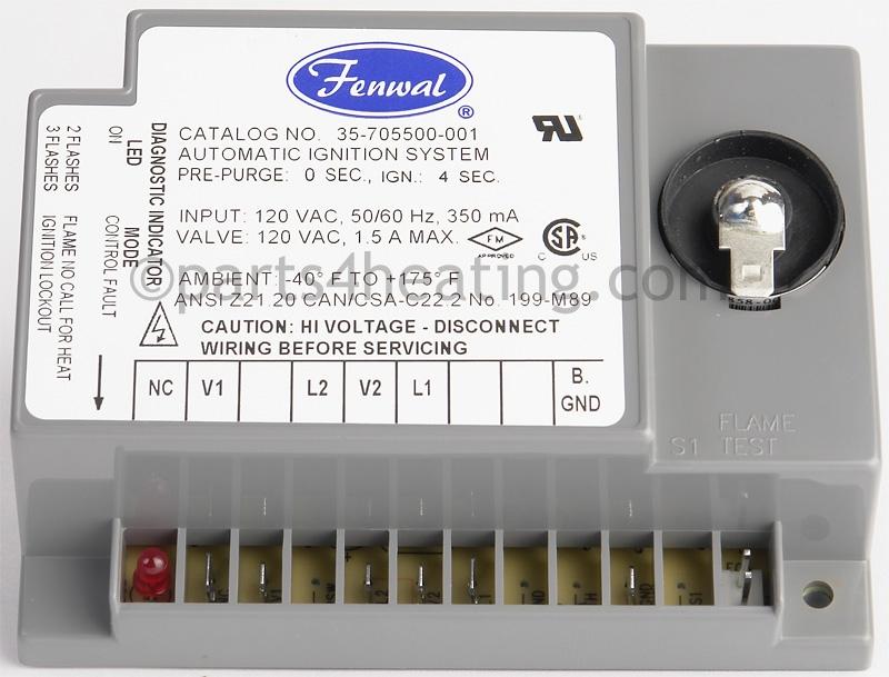 Fenwal 35705500001 Ignition Control 120 Vac Dsirhparts4heating: Fenwal Ignition System Wiring Diagram At Gmaili.net