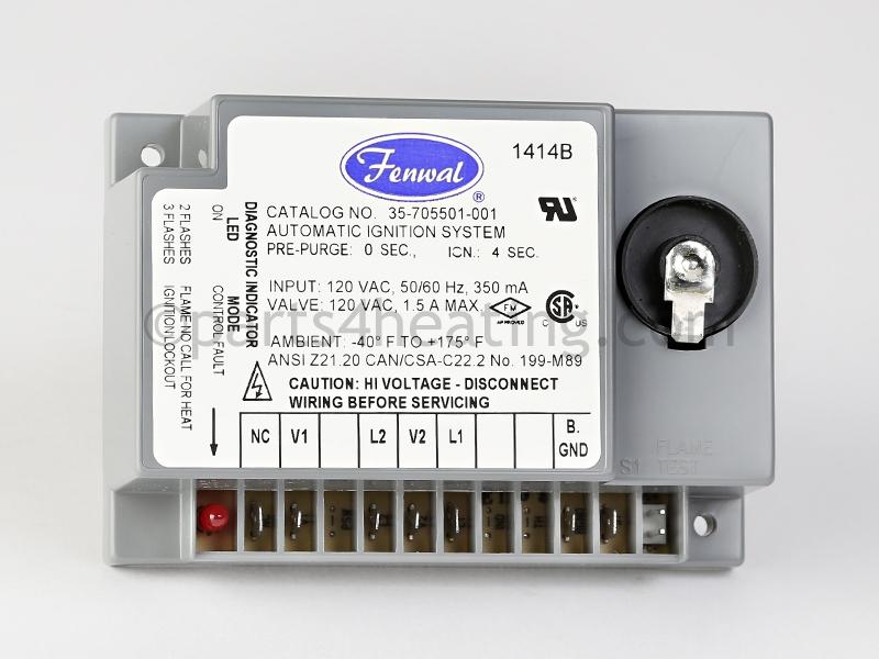 fenwal ignition module wiring diagram parts4heating com fenwal 35 705501 001 ignition control module  fenwal 35 705501 001 ignition control