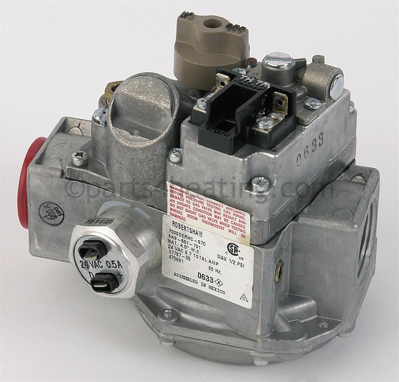 parts4heating com robertshaw 7000derhc s7c gas vlv nat rh parts4heating com Robertshaw Gas Valve 7000 Series Robertshaw Parts