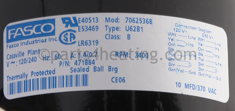 NO LONGER AVAILABLE Fasco 70625368 Blower w/Gasket 400 STD on
