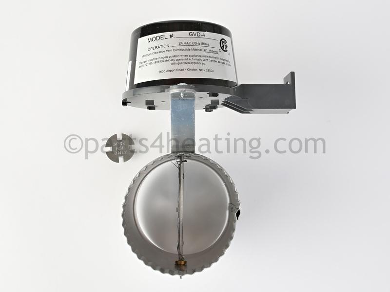 Crown Boiler 4 in. VENT DAMPER (GVD-4-PL-CR) - Parts4Heating.com