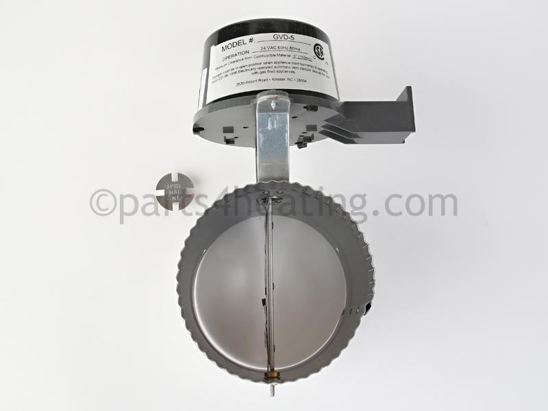 Crown Boiler 5 in. VENT DAMPER (GVD-5-PL-CR) - Parts4Heating.com