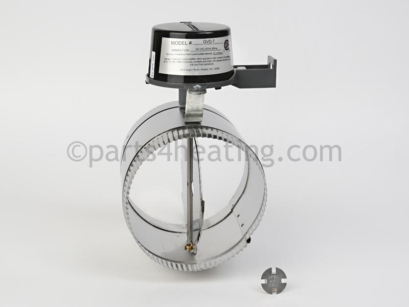 Crown Boiler 7 in. VENT DAMPER (GVD-7-PL-CR) - Parts4Heating.com