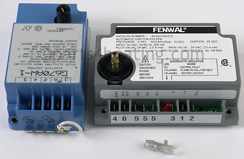 Johnson Controls G670AW-1 Ignition Control Module, Fenwal direct replacement