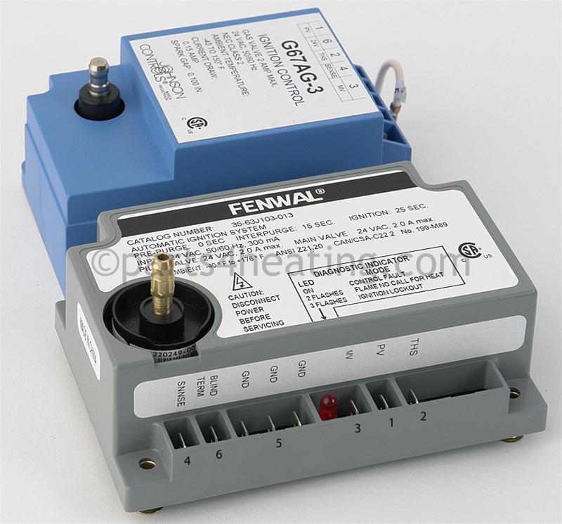 Parts4heating.com: Johnson Controls G67AG-3 Ignition Control