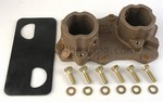 LAARS R20150200 Machined Bronze Inlet/Outlet Header Cover for Std. Heat Exchanger