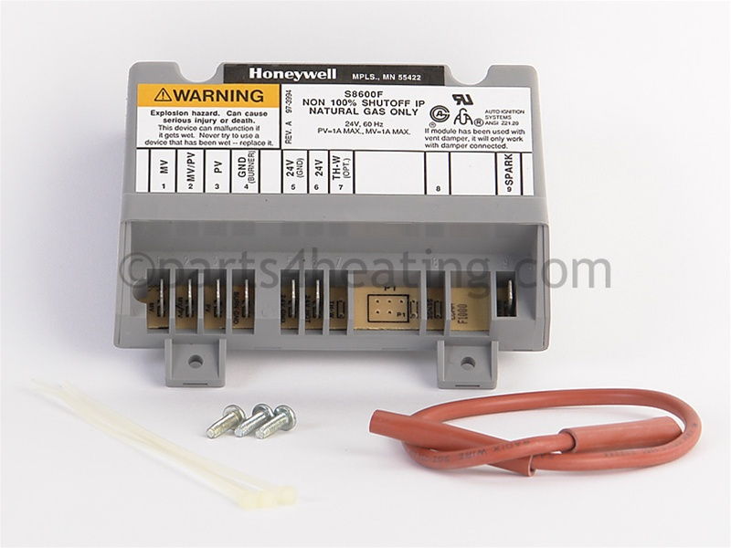 Honeywell S8600F 1000 (1) Ignition Control, Natural, Factory Replacement