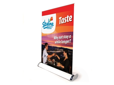 Mini single side roll up banner stand (stand only)