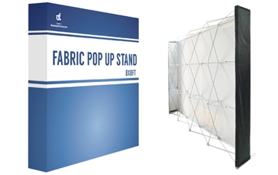 8x8ft Straight Fabric PopUp (Single Side Graphic Only)