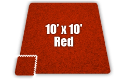 Soft Carpet Red 10x10ft