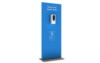 Touch Free Hand Sanitizer Banner stand