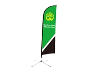 "Wind Resistant Feather Flag 8ft ""Preorder only"""