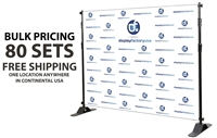 Adjustable Banner Stand 8x8ft (bulk hardware, 80sets)