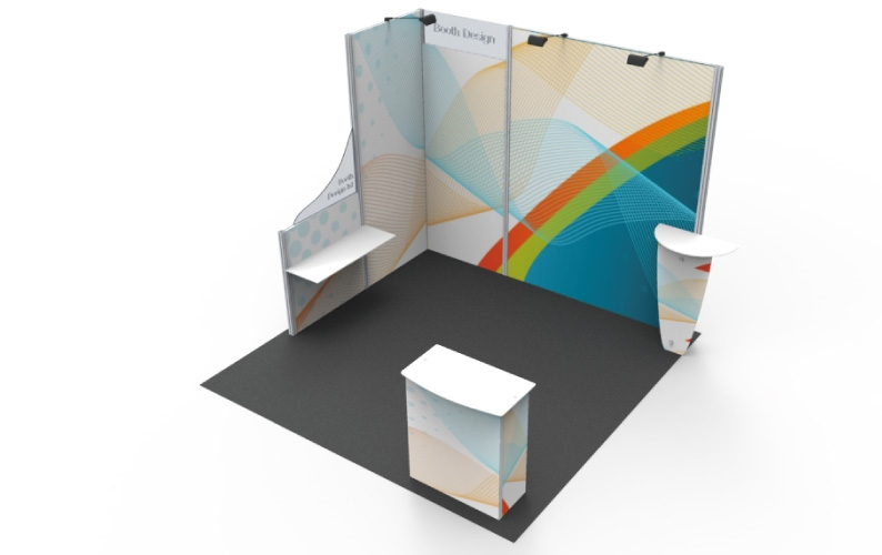 B33111 Linear Booth 10x10 Ft Full Package