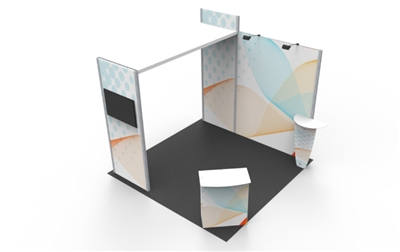 B33112 Corner Booth 10x10 ft - Full Package