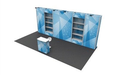 B36104 Peninsula Booth 10x20 ft - Full Package