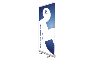 "Retractable Banner Stand 33.5x80"" (stand only)"