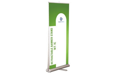 Double-sided Retractable Banner Stand, 33.5x80""