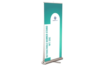 "Double-sided Retractable Banner Stand, 33.5x80"" (Graphic Package)"