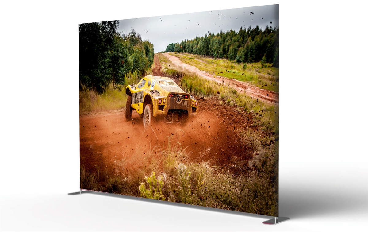 10ft Tube display double side graphic package