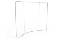 8ft Tension Fabric Display - Slim Wave (Hardware Only)