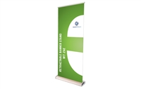 "Broadbase Retractable Banner Stand 33.5x80"" (stand only)"