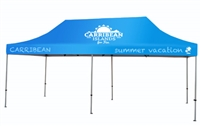 Buy Aluminum tent with custom print for only $982.   Order today!