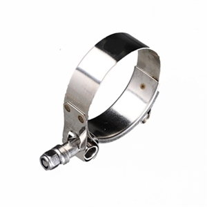 Stainless steel T-bolt clamp