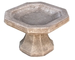 Octagonal Bird Bath - Small