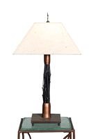 DEcorative,Unique Handmade Breeze Black Bamboo Accent TableLamp for Office,Living Room,Bed Room,Housewarming