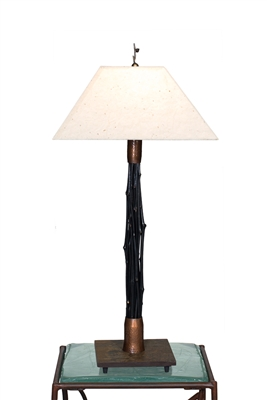 Tall Breeze Black Bamboo Lamp