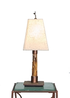 Unique Handmade Decorative Primal Brown Bamboo Accent Table Lamp for Office,Bed Room,Living Room,Housewarming