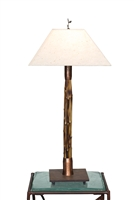 Tall Breeze Brown Bamboo Lamp