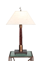 Decorative unique wedding gift handmade Breeze Red Cedar accent table Lamp for office,living room,bed room,housewarming