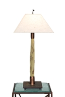 Decorative unique handmade Tall Breeze Light Green Thatch accent table lamp for office,living room,bed room,housewarming