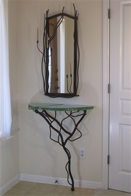 Decorative unique handmade iron Crescent Moon Side Accent Console Table for entryways,office,living room,housewarming