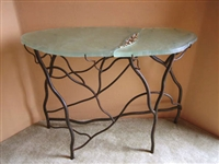 Organic Half Moon Accent Table